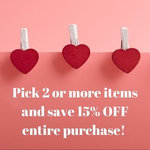 15% OFF purchase when you pick 2 or more ❤️